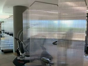 Gorgeous New Anti-Microbial Divider Installation at The Century Luxury Condos. - Premier Fitness Service