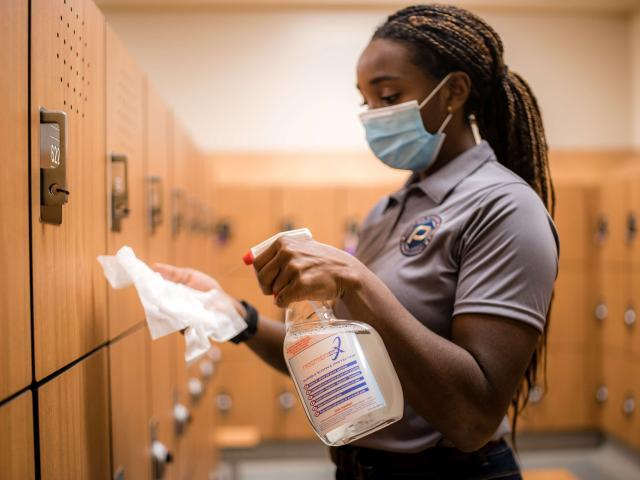 The Difference Between Cleaning, Disinfecting, Sanitizing & Surface Protection - Premier Fitness Service